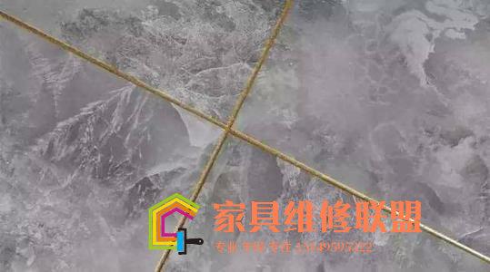 【家具维修技术培训】大理石岩板陶瓷修复材料驳口水的使用方法和介绍视频